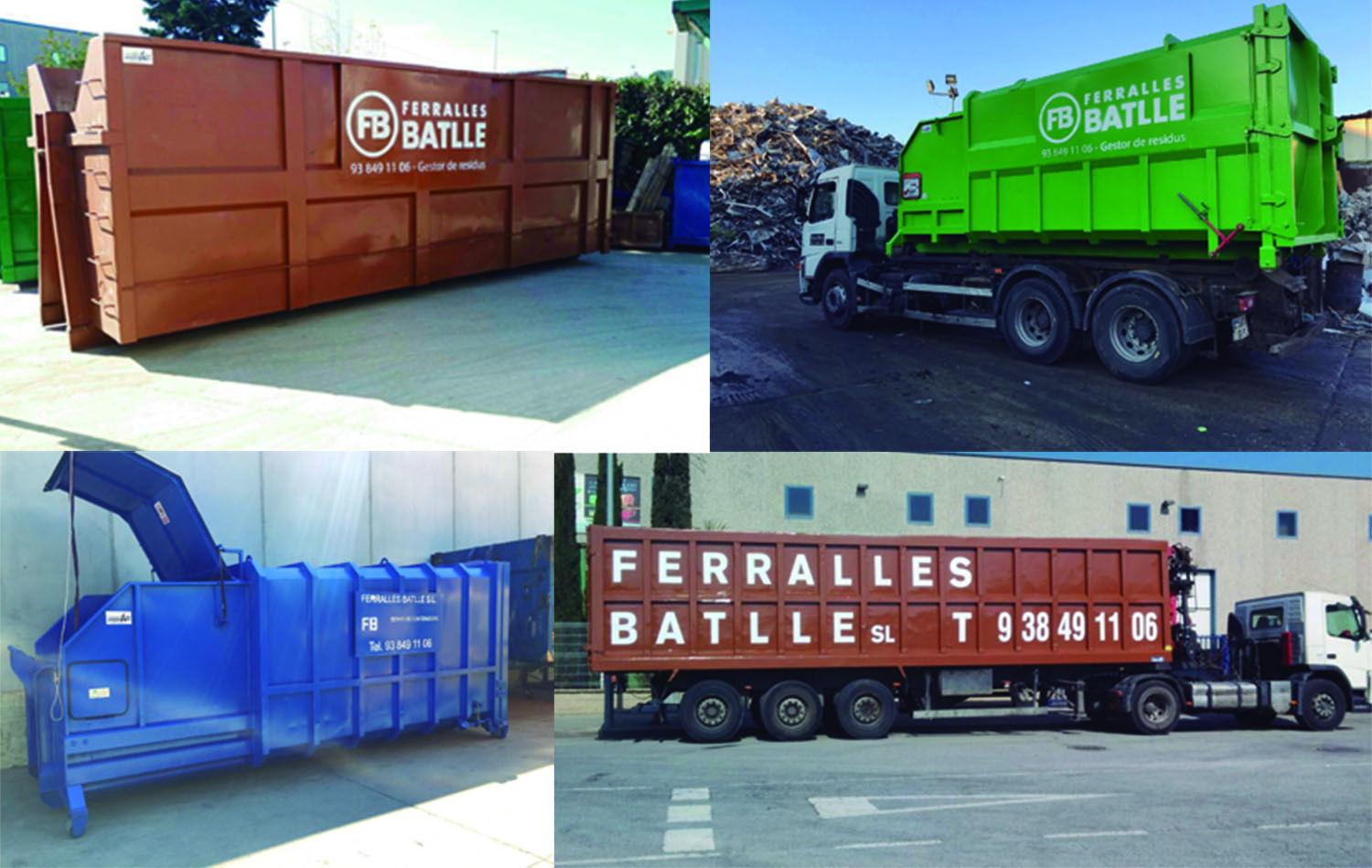 Containers waste management recycling Ferralles Batlle